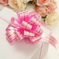 Бант-шар 3 'Золотые полосы', цвет розовый (комплект из 30 шт.)