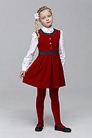 Детский для девочек осенний красный деловой сарафан Nova Line Kids M501 бордо 116-56р.