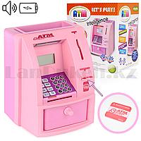 Детская электронная копилка цвета розовый и фиолетовый