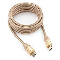 Кабель HDMI Cablexpert, серия Gold, 3 м, v1.4, M/M, позол.разъ, алюм корпус, нейлон. оплет, коробка