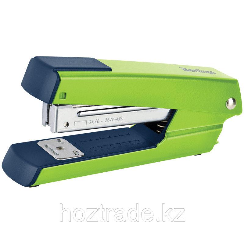 """Степлер №24/6, 26/6 Berlingo """"Power TX"""" до 30л., металлический корпус, зеленый"""