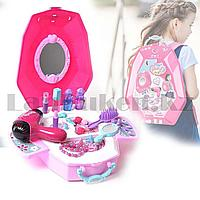 Игровой набор для девочек салон красоты в Рюкзаке Beauty Angel розовый