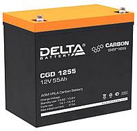 Тяговый аккумулятор Delta CGD 1255 (12В, 55Ач), фото 1