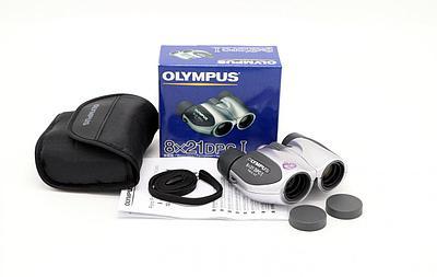 Бинокль Olympus 8x21 DPC I, 8x, 21мм, серебристый- черный