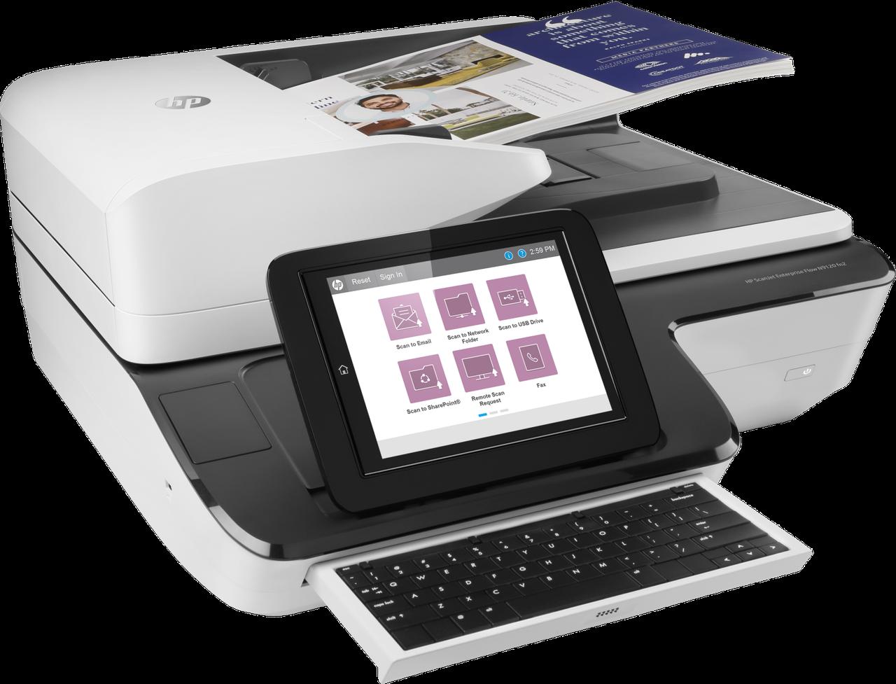 Сканер HP Cканер HP L2763A ScanJet Enterprise Flow N9120 fn2 (A3) 600 dpi, 24 bit, ADF (200 pages), 120/120