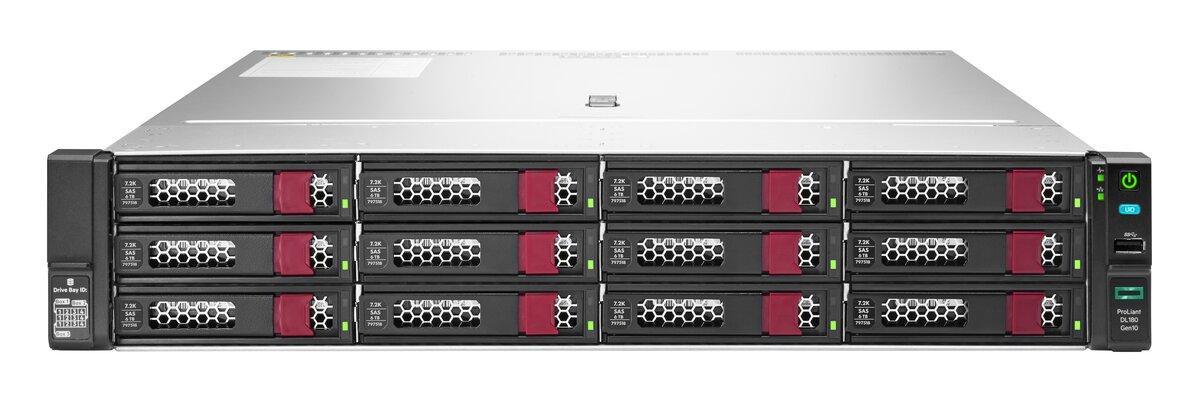 Сервер HPE DL180 Gen10 P19563-B21 (1xXeon4208(8C-2.1G)/ 1x16GB 1R/ 12 LFF LP/ P408i-a 2GB Batt/ 2x1GbE/