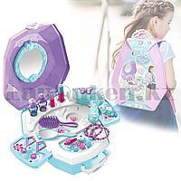 Игровой набор для девочек салон красоты в Рюкзаке Beauty Angel сиреневый