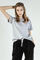 Женская футболка свободного кроя. Цвет: Серый Меланж