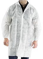 Халат медицинский одноразовый ткань Спанбонд, плотность 40гр/60гр