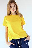 Женская футболка свободного кроя. Цвет: Желтый