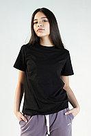 Женская футболка свободного кроя. Цвет: Черный