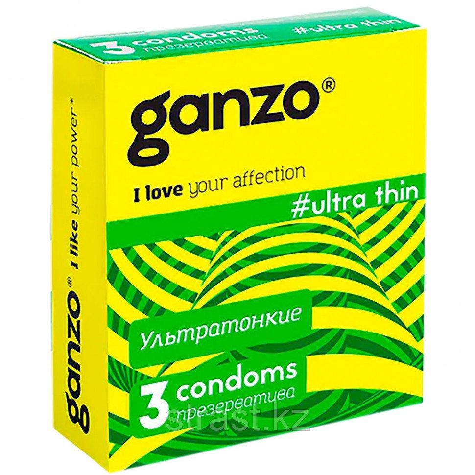 Презервативы Ganzo Ultra Thin ультратонкие (уп.3 шт)