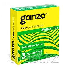 Презервативы ультратонкие Ganzo Ultra Thin 18 см (уп. 3 шт)