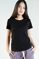 Женская футболка приталенная. Цвет: Черный