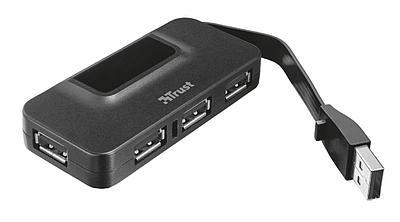 USB HUB Trust 4-port черный