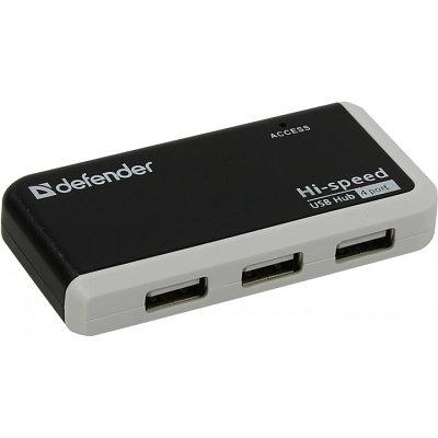 USB HUB Defender Quadro Infix 4-port черный-белый