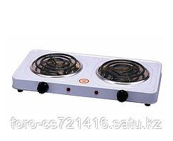 Электрическая плита 2 конфорки Hot Plate JX-2020B дисковая настольная