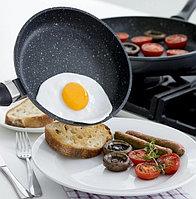 Сковорода Fissman 26см с каменным покрытием Fry Pan, фото 1