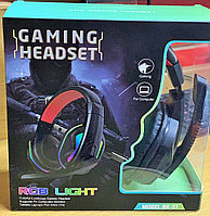 Наушники для компьютера игровые BK-51, с подсветкой RGB