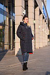 Зимний пуховик женский синий, фото 2