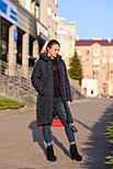 Зимний пуховик женский синий, фото 3