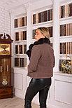 Женское пальто косуха с мехом песца, фото 2