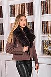 Женское пальто косуха с мехом песца, фото 3