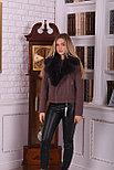 Женское пальто косуха с мехом песца, фото 4