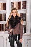 Женское пальто косуха с мехом песца, фото 5