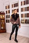 Женское пальто косуха с мехом песца, фото 6
