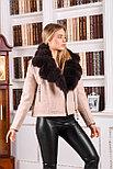 Женское шерстяное пальто с мехом песца, фото 3