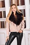 Женское шерстяное пальто с мехом песца, фото 5