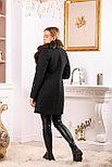 Женское пальто средней длины с мехом песца, фото 5