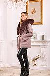 Женское пальто с капюшоном и ярким мехом, фото 5