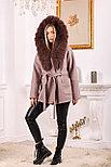 Женское пальто с капюшоном и ярким мехом, фото 6