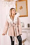 Женское пальто с белым мехом песца, фото 3