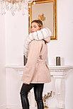 Женское пальто с белым мехом песца, фото 4