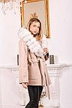 Женское пальто с белым мехом песца, фото 5