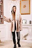 Женское пальто с белым мехом песца, фото 6