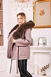 Пальто с капюшоном и мехом под соболь, фото 2