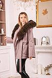 Пальто с капюшоном и мехом под соболь, фото 4