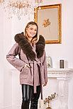 Пальто с капюшоном и мехом под соболь, фото 5