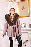 Пальто с капюшоном и мехом под соболь, фото 6
