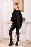 Стильный меховой свитер на молнии, фото 4