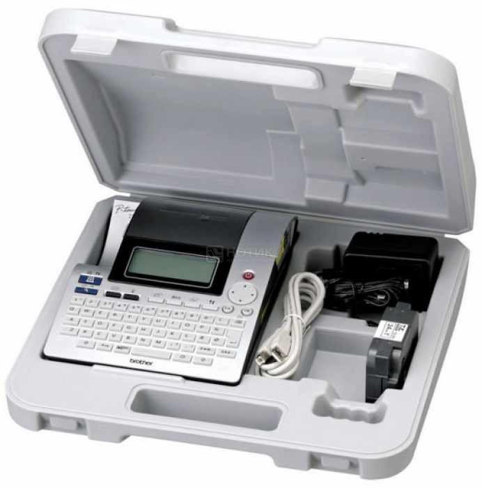 Принтер наклеек BROTHER PT-2700VP (PT2700VPR1) (кейс, адаптер питания, печать на термоусадке, связь с ПК)