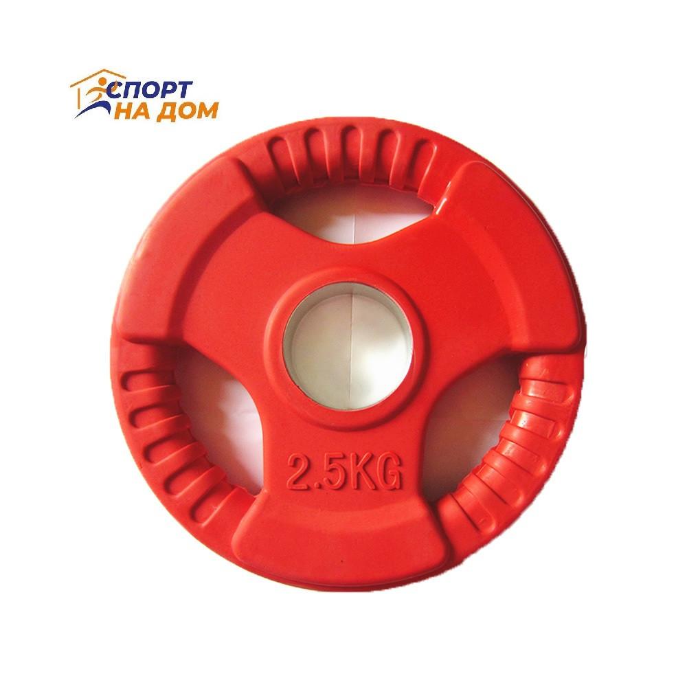 Блины (диски) фитнес с хватом 1,25 кг (красный)