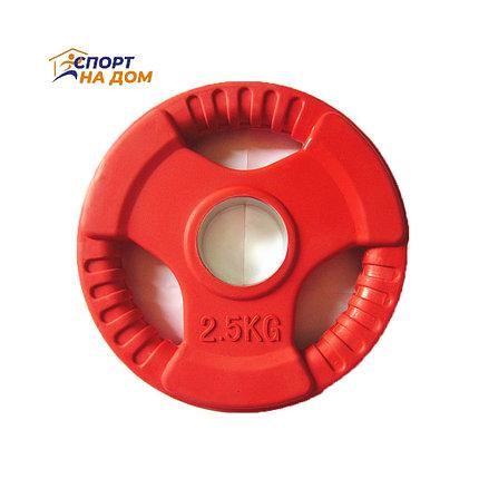 Блины (диски) фитнес с хватом 1,25 кг (красный), фото 2