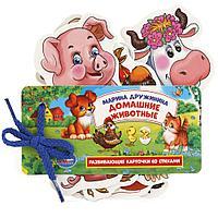Развивающие карточки на шнурке «М. Дружинина. Домашние животные»
