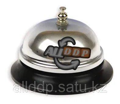 Настольный звонок на ресепшен 7см х 6,5см (серебристый)