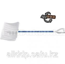 Лопата снеговая PROFI белая, 540 х 340 мм,алюминиевый черенок Россия 61485 (002)